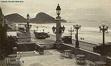 praia vista da entrada do copa