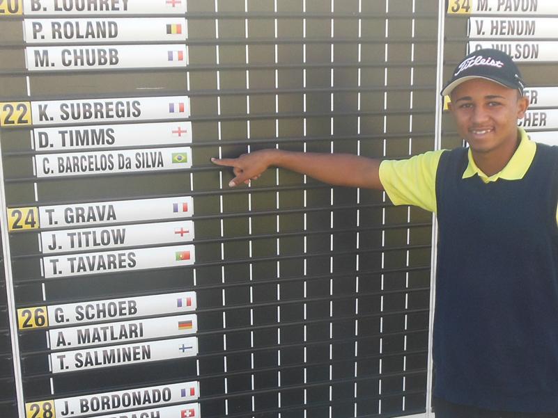 Golfista de Japeri participa de campeonato na Europa