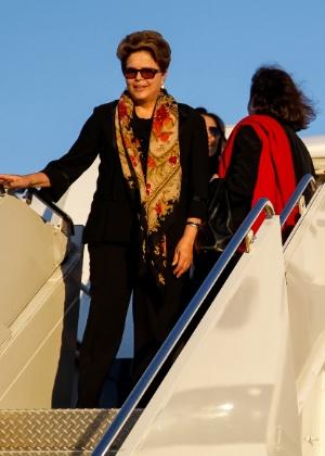 O desembarque de Dilma em Nova York: de mãos abanando