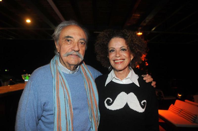 José Hugo Celidônio e a mulher Marialice