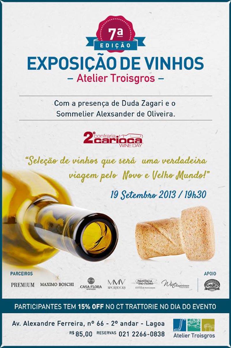 Ateliê Troisgros promove exposição de vinhos