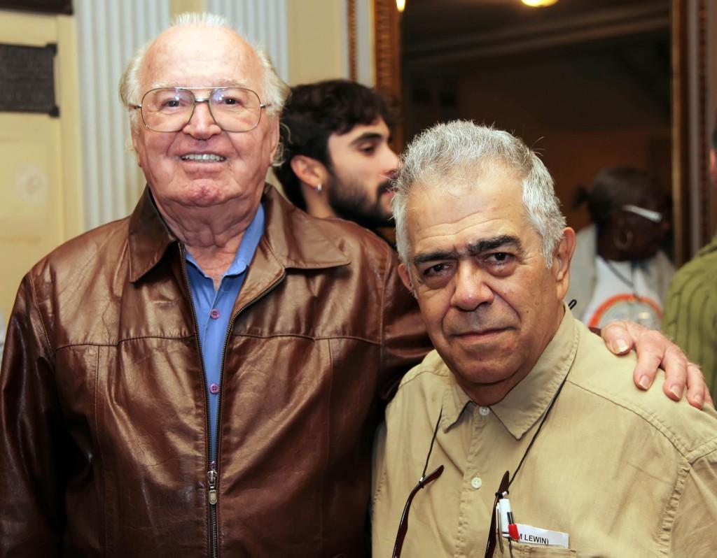 Maestro Edino Krieger e Flávio Silva, coordenador de música erudita da Funarte
