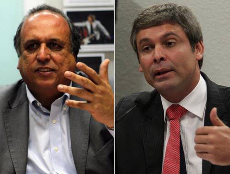 Dilma entre Pezão e Lindbergh
