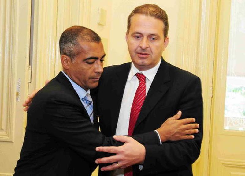 Romário e Eduardo Campos