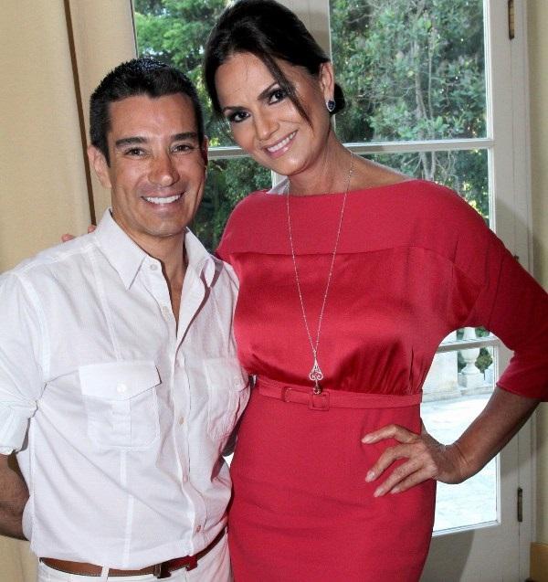 Marcelo Hicho e Luiza Brunet