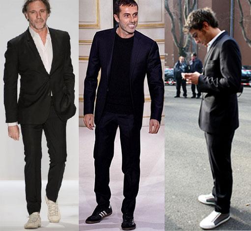 o designer Oscar Metsavaht  / o estilista italiano Giambattista Valli / visual com tênis da Mr Cat