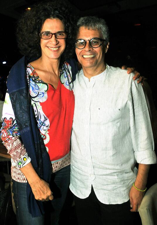 Simone e Leandro Braga, diretor musical do novo disco da cantora