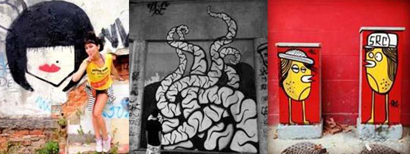 Cabine grafitada