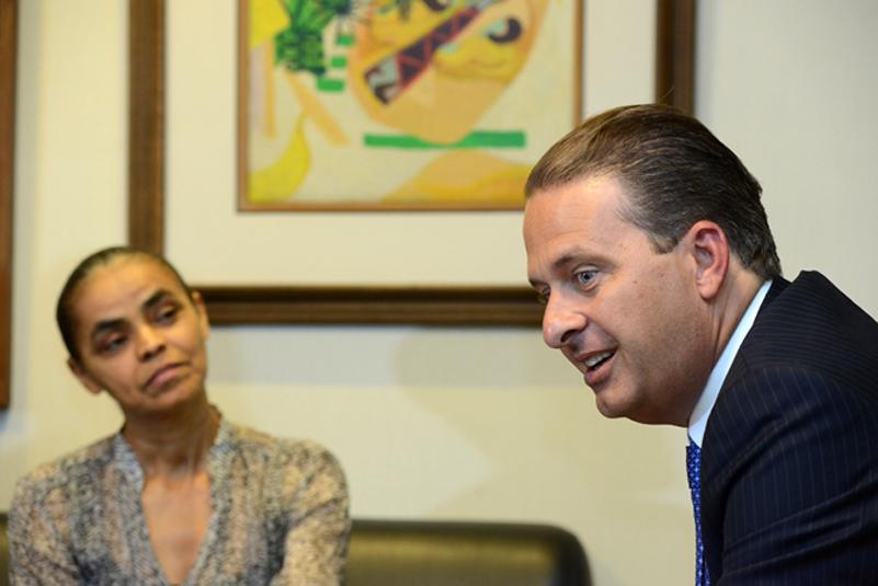 Eduardo Campos e Marina Silva em campanha light