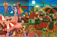 Artista carioca apresenta suas obras Naif no Guarujá