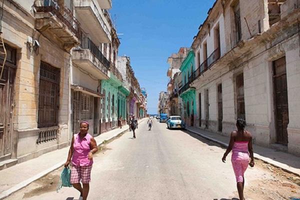 Uma rua que lembra a Bahia