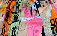 Emilio Pucci comemora Florença com edifício envolto em cachecol estampado