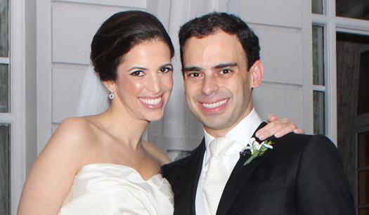Deborah Mason e André Pontual: casamento chique nos salões do Copa
