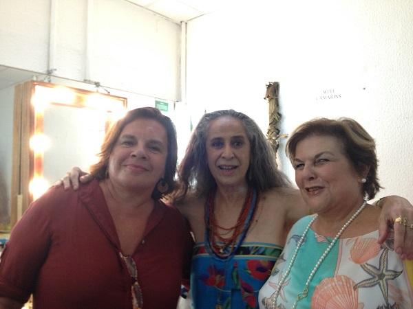 25 anos depois: eu,  Berré e Anna Ramalho nos bastidores do Vivo Rio, sábado, 17 de janeiro