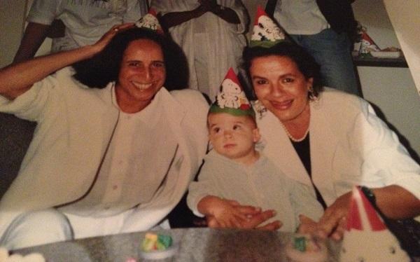 O aniversário no camarim da Rainha: Maria Bethância, Marina e eu