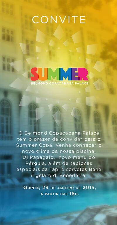 Summer Copa: o verão no Copacabana Palace