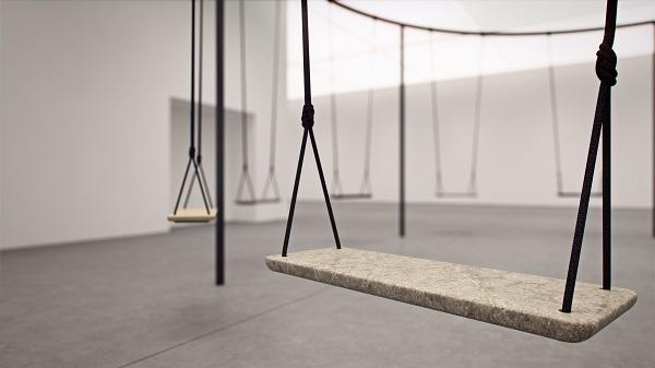 o designer philippe malouin preservou as cordas do balanço. foto de Vicky Lam