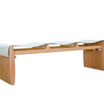 banco sela, couro e madeira jequitibá