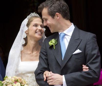 Alix de Ligne e Guillaume de Dampierre: casório principesco na Bélgica