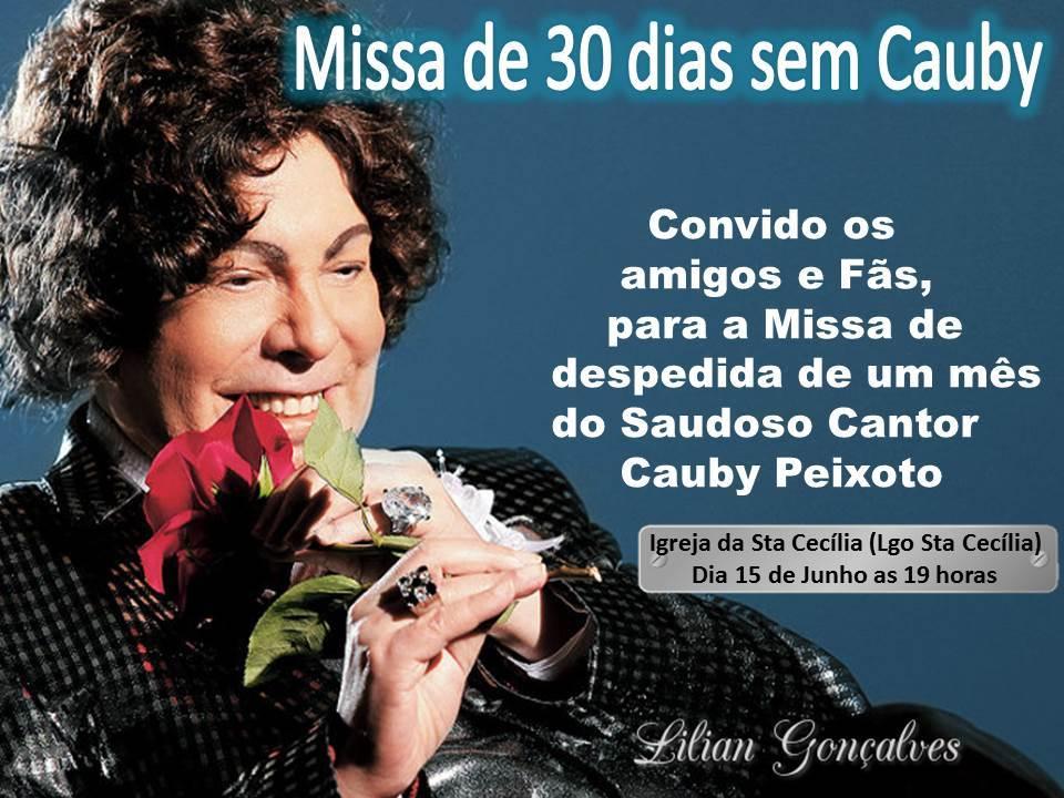 Missa de 30 dias da morte de Cauby Peixoto