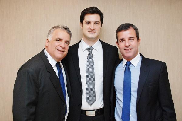 Mario Groisman (dentista), Pedro Assed (endocrinologista)e Mauricio Rubinstein (urologista)