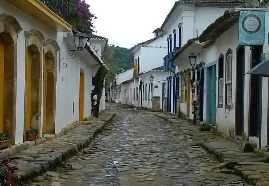 As ruas típicas de Paraty