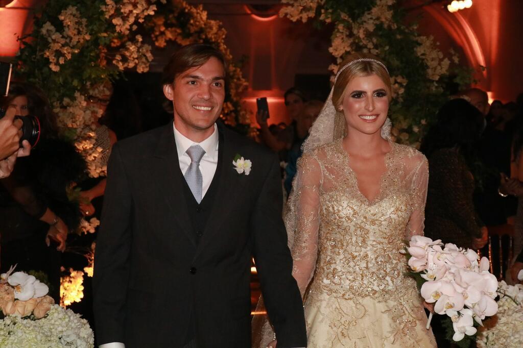 ACM Neto e Marina Ruy Barbosa no casório da Dandynha