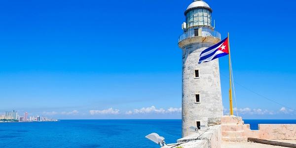 O forte sobre o mar do Caribe