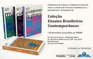 """Funarte lança """"Coleção Ensaios Brasileiros Contemporâneos"""" em fevereiro"""