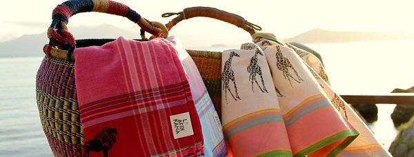 L'Afrikana - vestido, ècharpes e bolsas