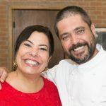 Claudia Cury e o chef Marcilio Araújo
