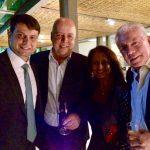 Chicô com o prefeito Bernardo Rossi, Marcelo Florencio e Carla Nogueira