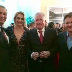 O casal Júlio Sobreira e Tamara Justen com Chicô Gouvêa e Paulo Reis