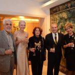 Luiz Henrique e Solange Pereira da Fonseca entre o casal Eileen e Luís Fernando de Athayde com Maggui De Broux