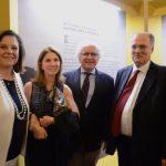 Helena Severo, Viviane e Joaquim Falcão com o Ministro Roberto Freire