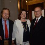 Ministro Francisco Weffort e Helena Severo com Ministro Roberto Freire