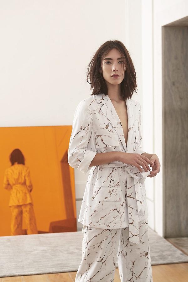 tecido marmorizado na linha pijama