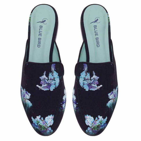 estampa floral no slip on