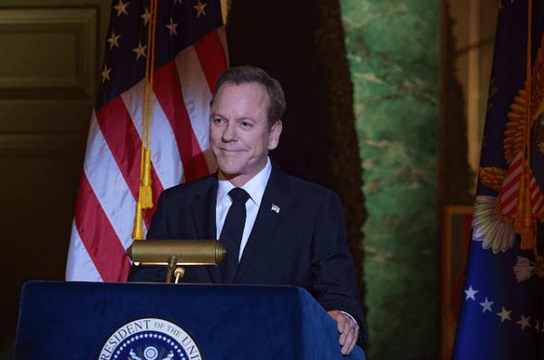 Kiefer Sutherland: as mesmas caras e bocas do espião para o presidente dos EUA
