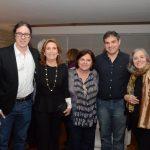 Geraldinho Carneiro, Ruth Niskier, Gilda Mattoso, Carlos Cardoso e Rosiska Darcy de Oliveira