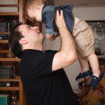 Rodrigo Maia com o pequeno Rodrigo Filho