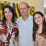 Gabriela Moraes, Fernando Barrozo do Amaral e a filha Júlia