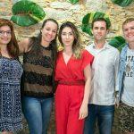 Bruna Aragão, Fabiola Baumgarten, Paula Costa, André Nunes e Johnny Serafim