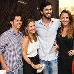 Thiago Queiroz, Cristiana David, Artur Fernandes e Marcela Groth