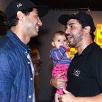 Felipe Mussalem e Assur Fernandes com sua filha Catarina
