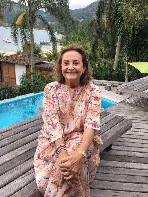 Lucinha Araújo em sua casa de Angra no feriadão ( Foto Anna Ramalho)