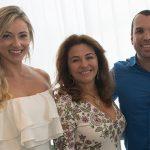 Lisa Rocha, Marta Isaaksen e Daniel Contrion