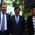 O secretário de Estado de Educação do Rio de Janeiro, Wagner Victer, o ministro da Educação, Mendonça Filho e Francisco Victer