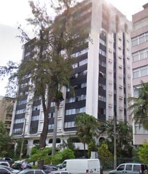 O prédio onde mora Sérgio Cortes na Avenida Borges de Medeiros, Lagoa, Rio de Janeiro
