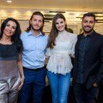 Claudia Brassaroto, Kleber Toledo, Camila Queiroz e João Brassaroto